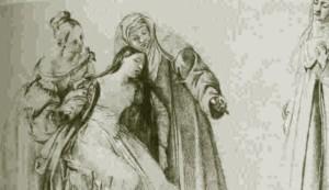 Giuseppe Bezzuoli, Svenimento di Ermengarda, 1837 - Firenze, Uffizi, Gabinetto dei Disegni e delle Stampe